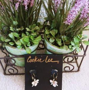 Cookie Lee Lotus Flower Earrings